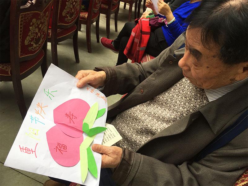 养老院绘画活动